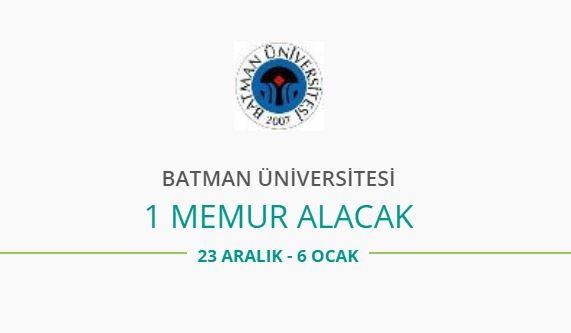 Batman Üniversitesi 1 İç Denetçi Alacak
