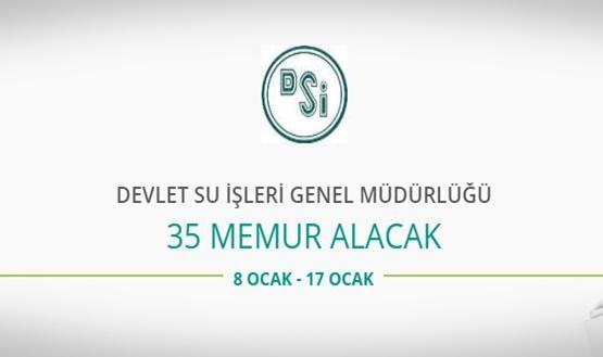 Devlet Su İşleri Genel Müdürlüğü 35 Mühendis alacak