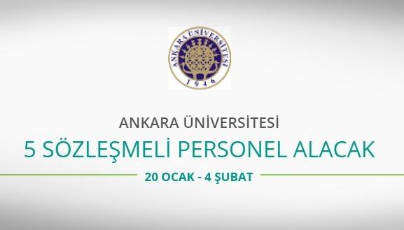 Ankara Üniversitesi 5 Sözleşmeli Personel alacak