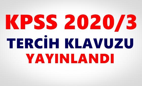 KPSS 2020/3 tercih kılavuzu yayınlandı