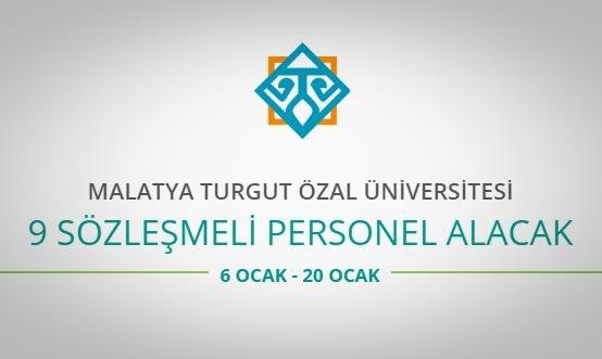 Turgut Özal Üniversitesi 9 Personel alacak