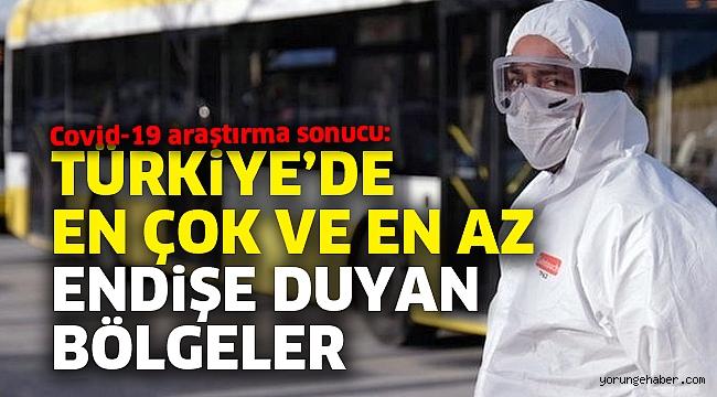 Corona araştırma sonucu: Türkiye'de en çok ve en az endişe duyan bölgeler