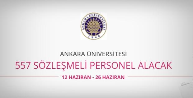 Ankara Üniversitesi 557 personel alıyor