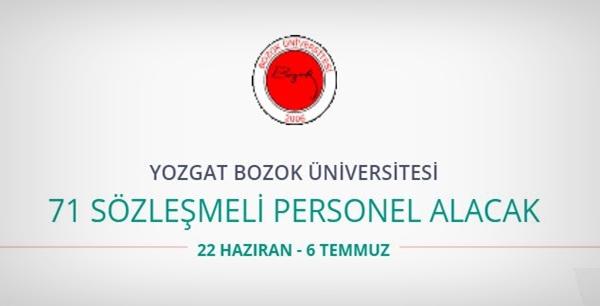 Bozok Üniversitesi 71 Sözleşmeli Personel alıyor