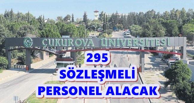Çukurova Üniversitesi 295 personel alacak