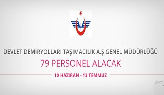 Devlet Demiryolları 79 personel alıyor