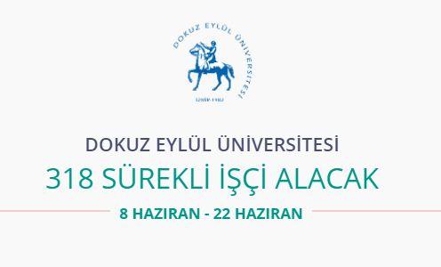 Dokuz Eylül Üniversitesi 318 personel alıyor