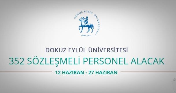 Dokuzeylül Üniversitesi 352 Sözleşmeli personel alacak