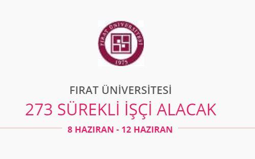 Fırat Üniversitesi 273 personel alıyor