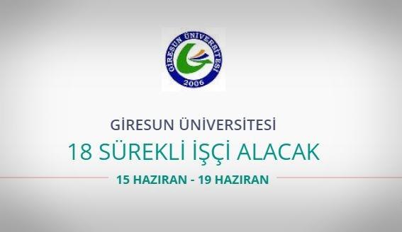 Giresun Üniversitesi 18 Sürekli işçi alacak