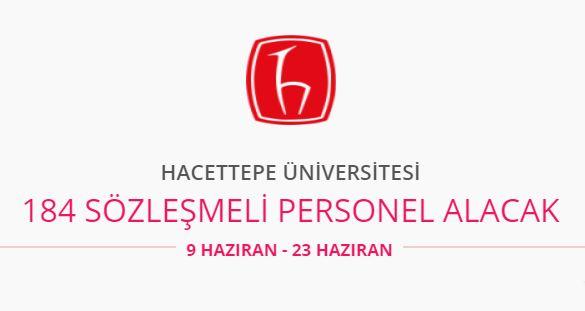 Hacettepe Üniversitesi 184 personel alıyor