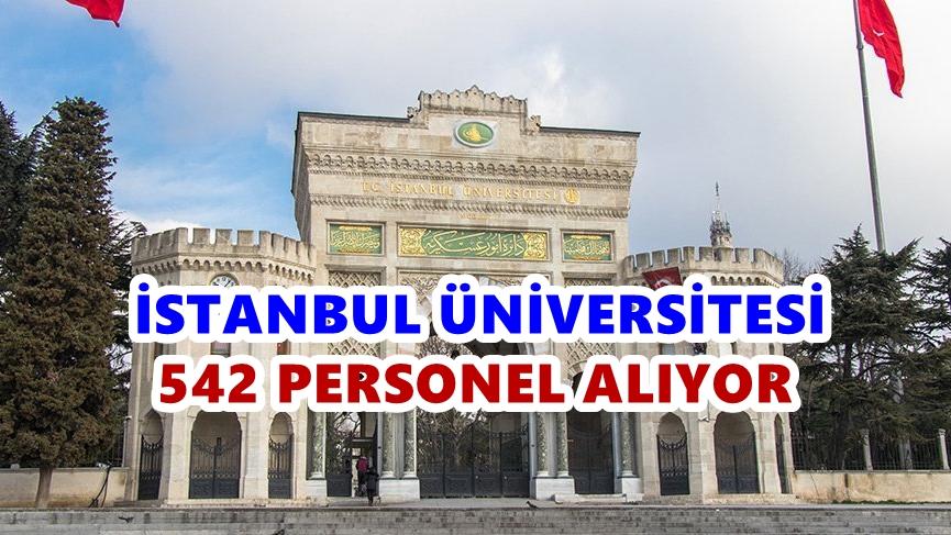 İstanbul Üniversitesi 542 Personel alıyor