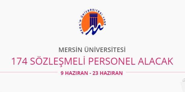 Mersin Üniversitesi 174 personel alıyor