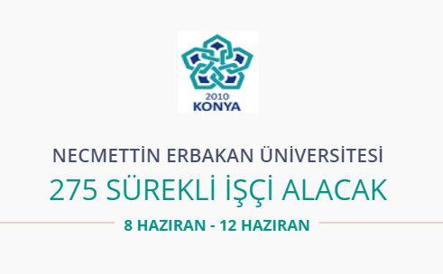 Necmettin Erbakan Üniversitesi 275 personel alıyor