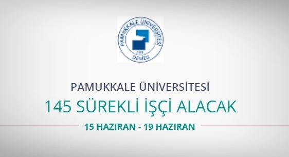 Pamukkale Üniversitesi 145 Sürekli işçi alıyor