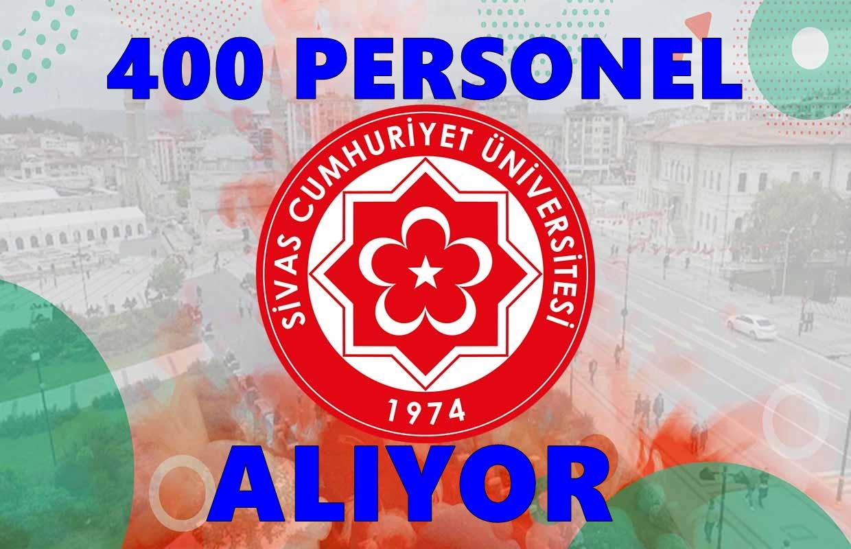 Sivas Cumhuriyet Üniversitesi 400 Personel alıyor