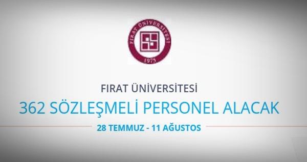 Fırat Üniversitesi 362 Personel alıyor