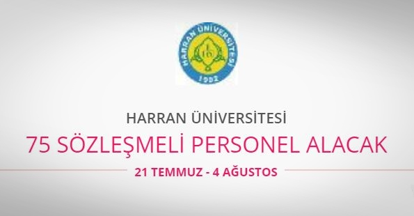 Harran Üniversitesi 75 Personel alıyor