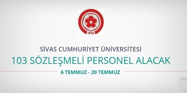 Sivas Cumhuriyet Üniversitesi 103 Personel alıyor
