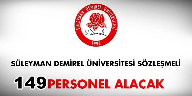 Süleyman Demirel Üniversitesi 149 Sözleşmeli Sağlık Personeli alıyor