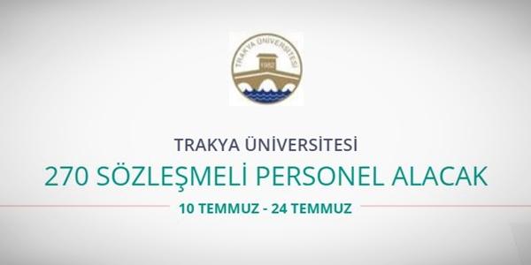 Trakya Üniversitesi 270 Personel alıyor