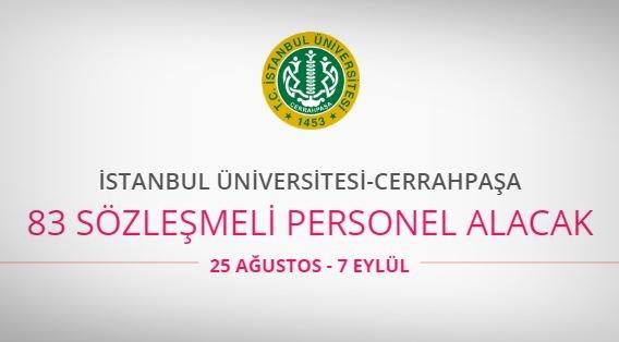 İstanbul Üniversitesi–Cerrahpaşa 83 Personel alıyor