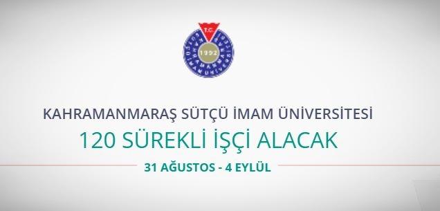 Kahramanmaraş Sütçü İmam Üniversitesinde 120 sürekli işçi alıyor