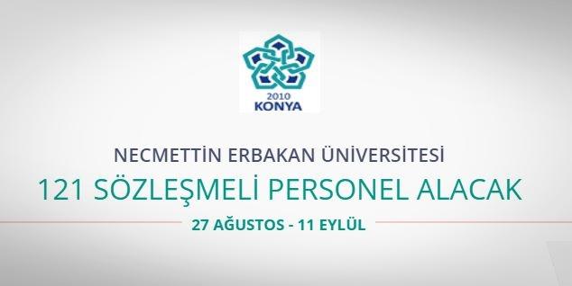 Necmettin Erbakan Üniversitesi 121 Sözleşmeli Personel alıyor