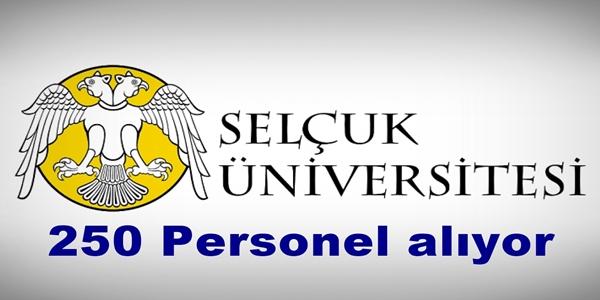 Selçuk Üniversitesi 250 Sözleşmeli Personel alıyor