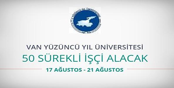 Van Yüzüncü Yıl Üniversitesi 50 sağlık personeli alıyor
