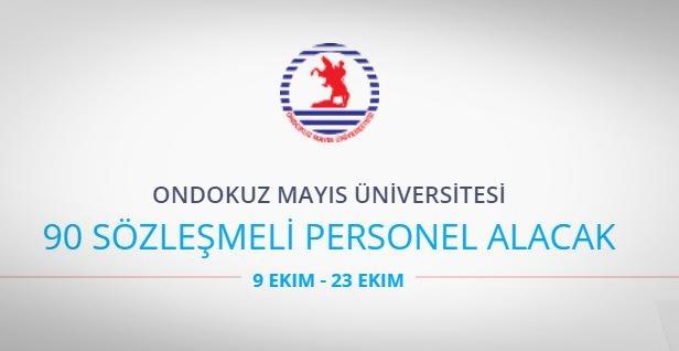 Ondokuz Mayıs Üniversitesi 90 Personel alıyor
