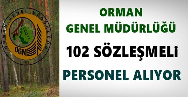 Orman Genel Müdürlüğü 102 Personel alıyor