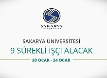 Sakarya Üniversitesi 9 Sürekli İşçi alacak
