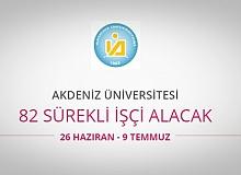 Akdeniz Üniversitesi 82 Sürekli İşçi alıyor