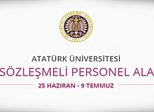 Atatürk Üniversitesi 466 sözleşmeli personel alacak