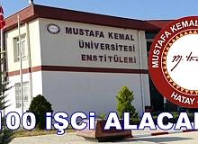 Hatay Mustafa Kemal Üniversitesi 100 işçi alıyor