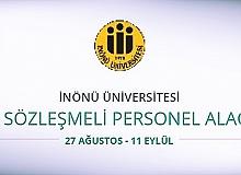 İnönü Üniversitesi 292 Sözleşmeli personel alıyor