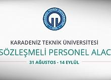Karadeniz Teknik Üniversitesi 70 Personel alıyor