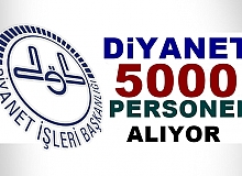 Diyanet 5000 Personel alıyor