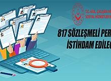 Aile, Çalışma ve Sosyal Hizmetler Bakanlığı 817 Sözleşmeli Personel alacak