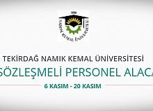 Tekirdağ Namık Kemal Üniversitesi 33 Personel alıyor