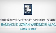 BDDK 33 bankacılık uzman yardımcısı alacak