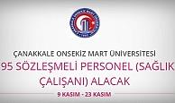 Çanakkale Onsekiz Mart Üniversitesi 195 Personel alacak